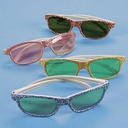 4 3/4in Child Size Plastic Crackle Print Sunglasses