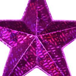 12 x 12in Purple Wall Star