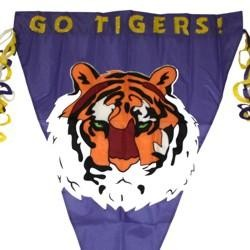 Nylon Go Tigers Fun Flag Banner