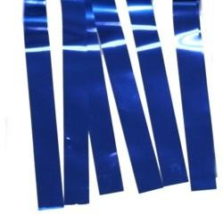 60ft x 12in Blue Metallic Fringe