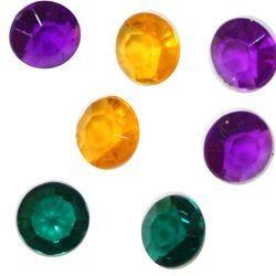 10mm Purple Green And Gold Acrylic Diamond Stones