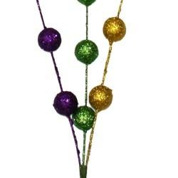 Purple, Green, and Gold Glittered Balls Spray