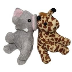 5in Assorted Plush Zoo Animals