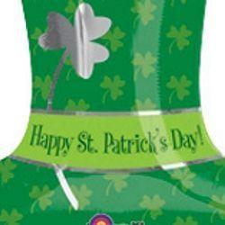 18in Tall St Patricks Hat Jr Shape Mylar Balloons