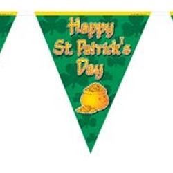10in x 12ft Happy St. Patricks Day Pennant Banner