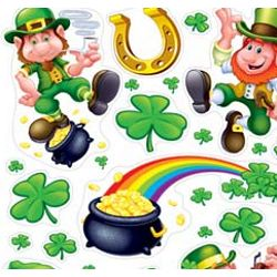 12in x 17in Assorted Saint Patrick/ Leprechaun Clings