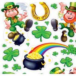 12in x 17in Assorted Saint Patrick/ Leprechaun Clings