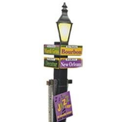 71 1/4in Tall Cardboard Mardi Gras/Pole/Street Directional Sign
