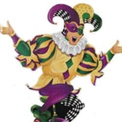 56in Tall x 45 1/2in Wide Stand-Up Cardboard Jester