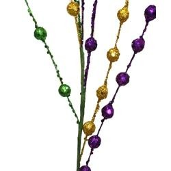 Purple Green Gold Small Balls Spray