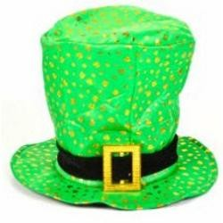 9in Tall Leprechaun Top Hat W/Band