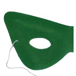 7.5in x 3.5in Green Velvet Cat Eye Mask