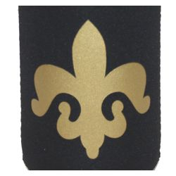 4 1/4in Neoprene Fleur-De-Lis Can Coolers
