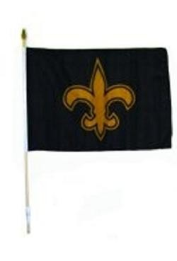 12in x 18in Polyester Fleur-De-Lis Flag On Stick