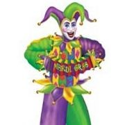 6ft Jointed Mardi Gras Figure