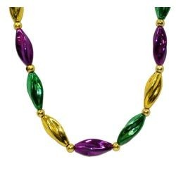 Mardi Gras Swirl Necklace