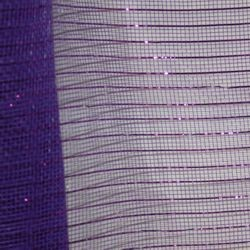 21in x 30ft Purple Mesh Ribbon w/ Metallic Purple Stripes