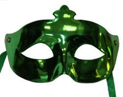 Eye Masquerade Masks: 6 Plastic Assorted Metallic Colors