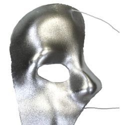 Deluxe Plastic Masks: Silver Phantom Of The Opera