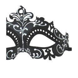 Paper Mache Masks: Black Venetian Masquerade Mask