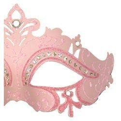 Venetian Masks: Pink Masquerade Eye Mask with Rhinestones