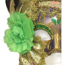 Deluxe Plastic Masks: Ladies Mardi Gras Masquerade Mask