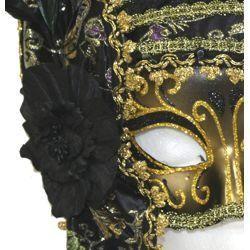 Deluxe Plastic Masquerade Masks: Ladies Black Masquerade Mask