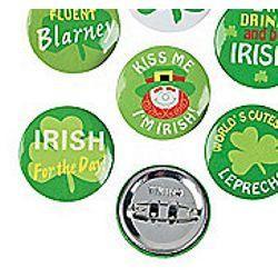 1in Mini St. Patricks Button Assortment