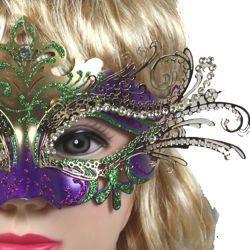 Venetian Masks: Mardi Gras Paper Mache Laser Cut