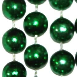 10mm 33in Round Metallic Green Beads