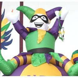 8 ft Tall Mardi Gras Light Up Inflatable Balloon