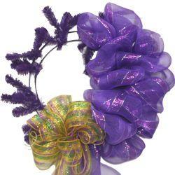 Purple Elevated Work Wreath Form