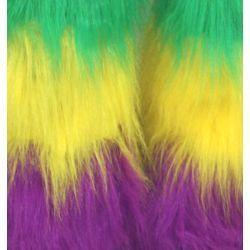 Mardi Gras Furry Leg Warmers