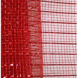 21in x 30ft Sinamay Metallic Red Mesh Ribbon/ Netting