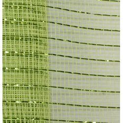 21in x 30ft Apple Green Mesh Ribbon w/ Metallic Lime Green Stripes