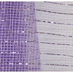 21in x 30ft Sinamay Metallic Lavender Mesh Ribbon/ Netting
