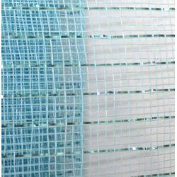 21in x 30ft Sinamay Metallic Light Blue Mesh Ribbon/ Netting