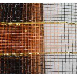 21in x 30ft Sinamay Metallic Orange/ Black Mesh Ribbon/ Netting