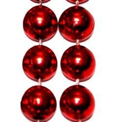 14mm 48in Metallic Red Beads
