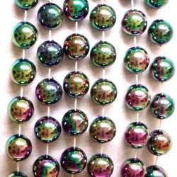 12mm 48in Black AB/ Iridescent Beads