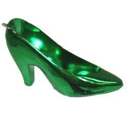 4in Metallic Purple/ Green/ Gold Plastic Shoes w/ Metall Ring Attached