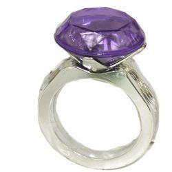 4in metallic purple green gold plastic jumbo rings bracelet