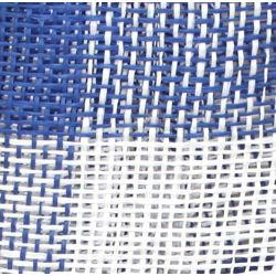 Royal Blue and White Burlap Mesh