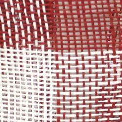 Red and White Burlap Mesh