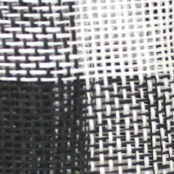 Black and White Burlap Mesh