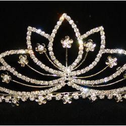 3in Tall Rhinestone Metal Tiara