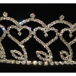 2.5in Tall Rhinestone Metal Crown