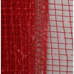 Red Plain Mesh Ribbon Netting
