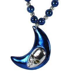 Blue Moon Silver Face Necklace