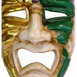 Mardi Gras Paper Mache Tragedy Venetian Big Mask